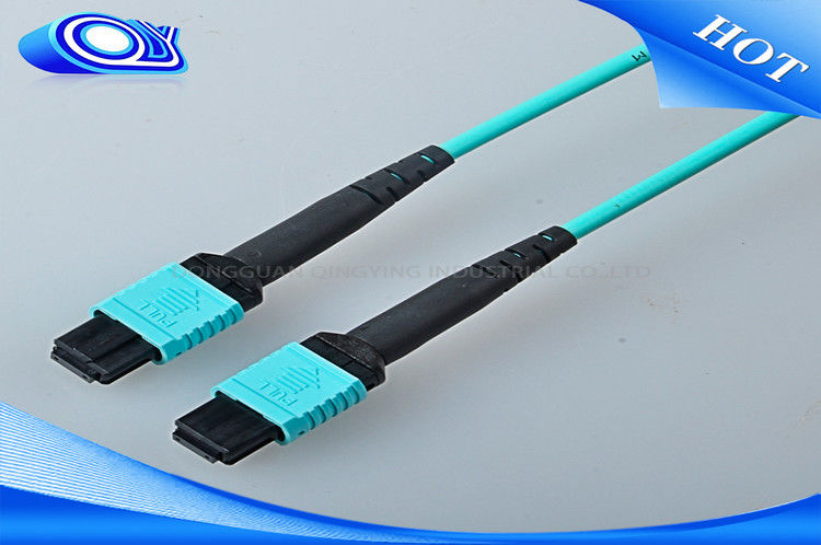 12 / 24 Cores MTP MPO Connector OM 3 Multimode Fiber Cable 10m Length