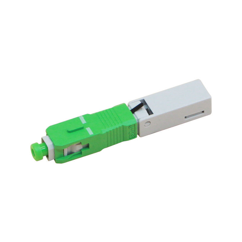Multimode Quick Fast Connector Adapter / Gray Fiber Optic SC Connector / Sc Fiber Optic Connector